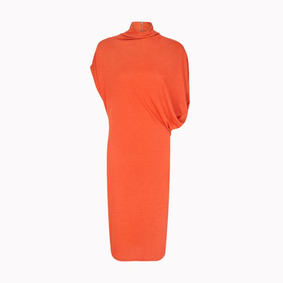 Stella McCartney, Solid Wool Draped Jersey Dress