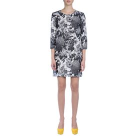 STELLA McCARTNEY, Longuette, Anemone Dress - Abito Nero Stampa Toile De Jouy