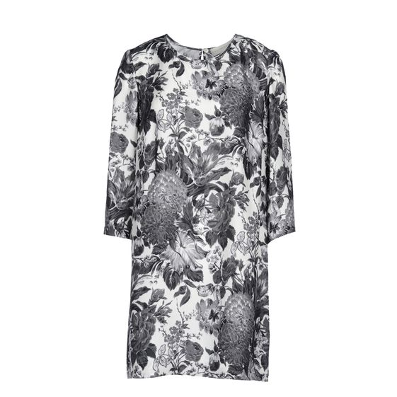 Stella McCartney, Black Toile De Jouy Print Anemone Dress