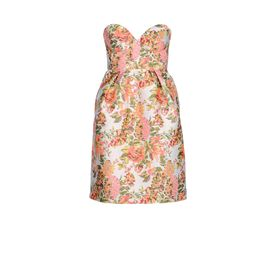 STELLA McCARTNEY, Mini, Robe Fletcher en jacquard fluo
