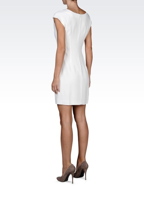 mini-dress with central kick pleat: Short Dresses Women by Armani - 3