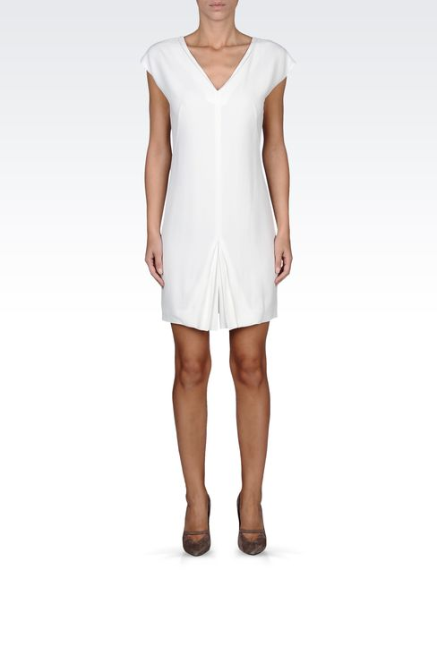 mini-dress with central kick pleat: Short Dresses Women by Armani - 1