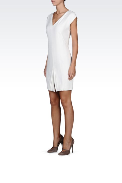 mini-dress with central kick pleat: Short Dresses Women by Armani - 2