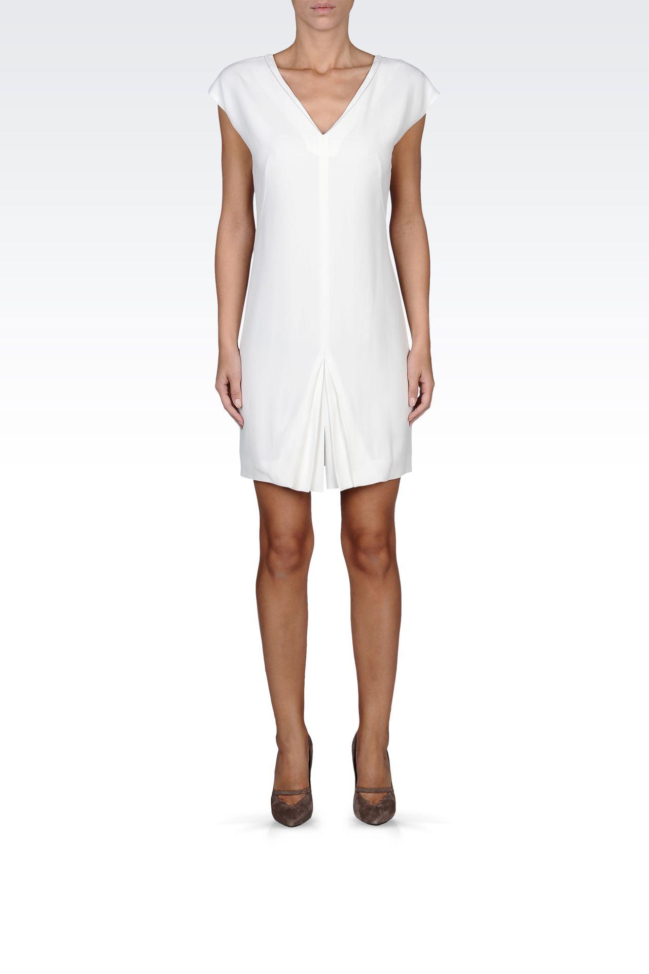 mini-dress with central kick pleat: Short Dresses Women by Armani - 0