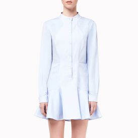 STELLA McCARTNEY, Mini, Light Blue Paneled Shirt Dress