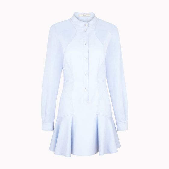 Stella McCartney, Light Blue Paneled Shirt Dress