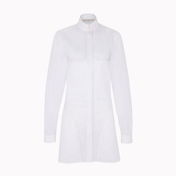 Stella McCartney, Robe Susanna en popeline blanche dlave