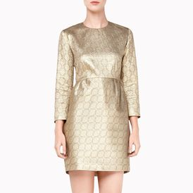 STELLA McCARTNEY, Gown, Gold Silk Lurex Ruiz Dress