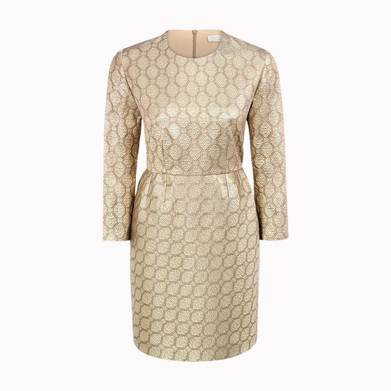 Stella McCartney, Gold Silk Lurex Ruiz Dress