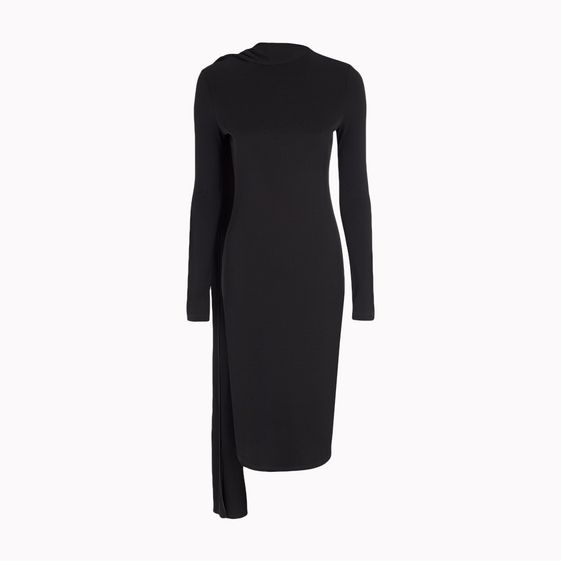 Stella McCartney, Jerseykleid Matt mit Drapierung