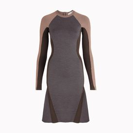 STELLA McCARTNEY, Mini, Black Tough Cuts Long Sleeved Dress