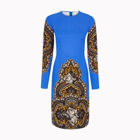 STELLA McCARTNEY, Knee Length,  Ornate Floral Print Barnes Dress