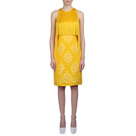 STELLA McCARTNEY, Gown, Citrus Mix Cady Walker Dress