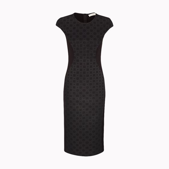 Stella McCartney, Black Brocade Bonded Milos Dress