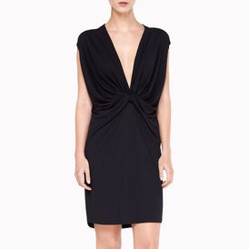 STELLA McCARTNEY, Mini, Solid Wool Jersey Sleeveless Dress