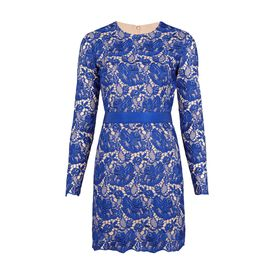 STELLA McCARTNEY, Mini, Ultra Blue Guipure Lace Celia Evening Dress