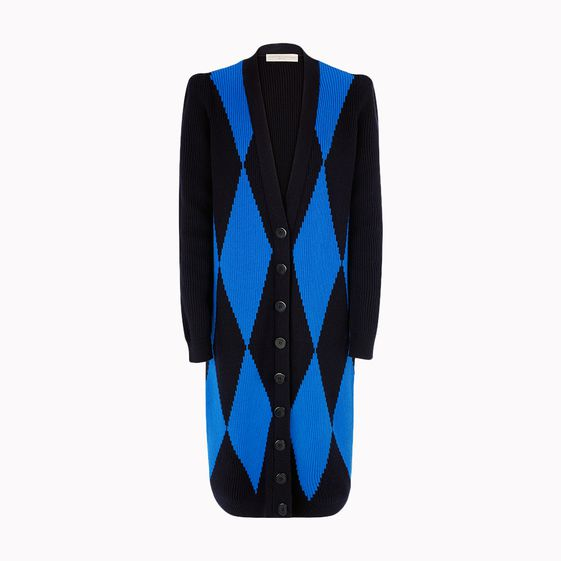 Stella McCartney, Large Diamond Long V-Neck Cardigan