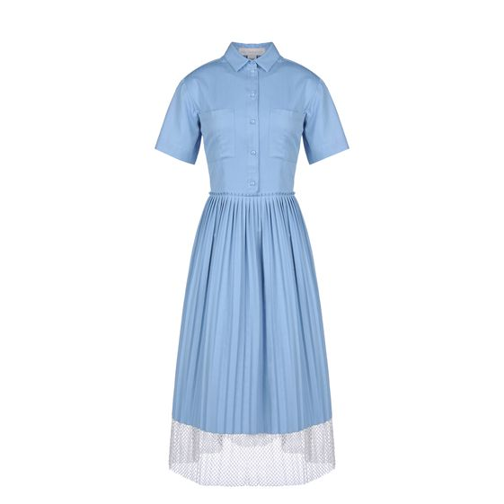 Stella McCartney, Blue Shadow Organic Herringbone Pimlico Dress