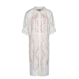 STELLA McCARTNEY, Longuette, Kleid Gerrard aus durchbrochener weier Baumwollspitze