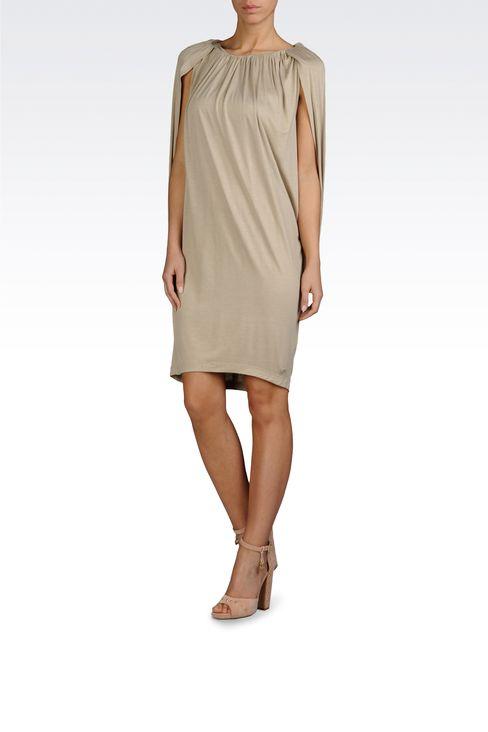 VISCOSE JERSEY DRESS WITH GATHERS: Jersey dresses Women by Armani - 2