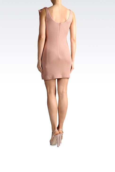crêpe dress with draping: Short Dresses Women by Armani - 3