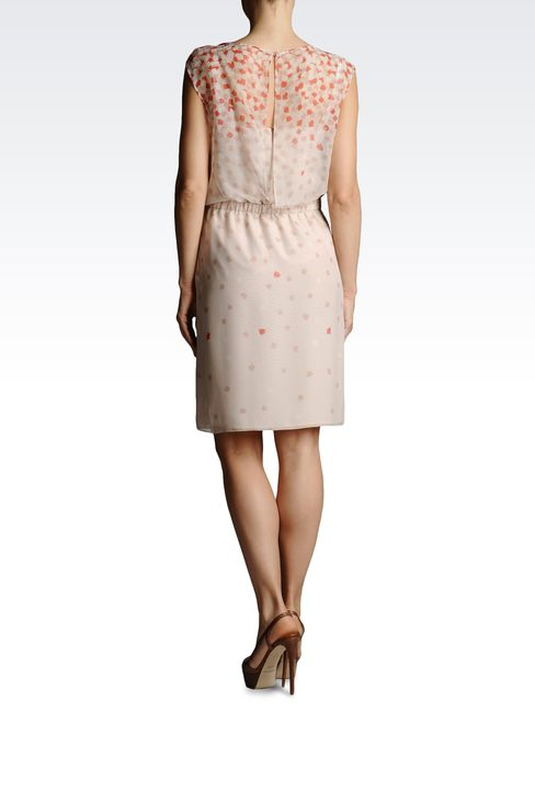 SILK DRESS WITH ELASTIC WAIST: Short Dresses Women by Armani - 3