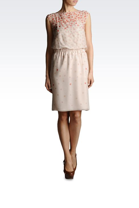 SILK DRESS WITH ELASTIC WAIST: Short Dresses Women by Armani - 2