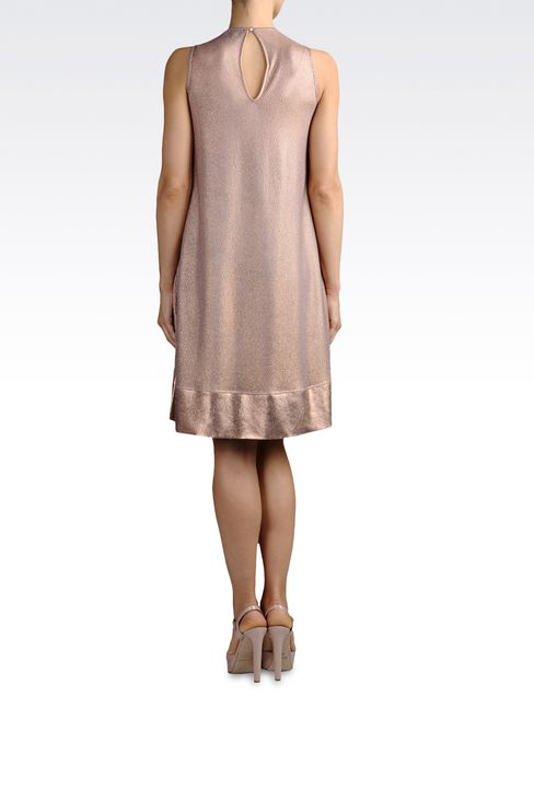 light knit dress with lamé effect: Short Dresses Women by Armani - 3