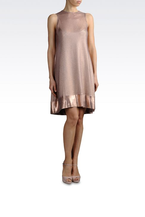 light knit dress with lamé effect: Short Dresses Women by Armani - 2