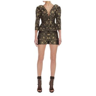 ALEXANDER MCQUEEN, Jacket, Bee Jacquard Off-Shoulder Jacket