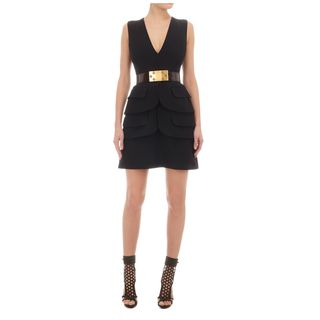 ALEXANDER MCQUEEN, Cocktail Dress, Crepe Double-Peplum Mini-Dress