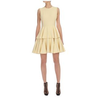 ALEXANDER MCQUEEN, Cocktail Dress, Buttercup Crepe Tiered Dress