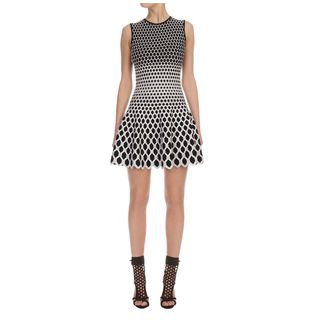 ALEXANDER MCQUEEN, Mini Dress, Degrade Honeycomb Jacquard Circle Mini-Dress