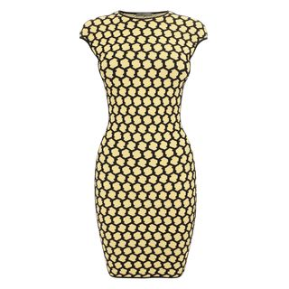 ALEXANDER MCQUEEN, Mini Dress, 3D Honeycomb Mesh Jacquard Mini-Dress