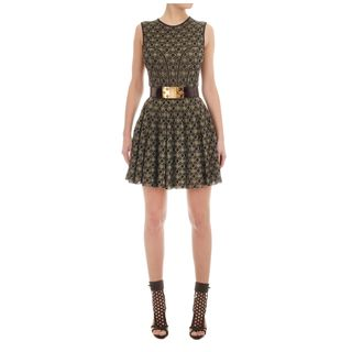 ALEXANDER MCQUEEN, Mini Dress, Honeycomb Lace A-Line Mini-Dress