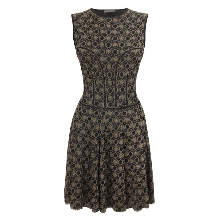 Alexander McQueen, Honeycomb Lace A-Line Mini-Dress