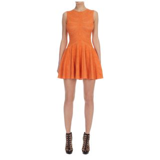ALEXANDER MCQUEEN, Mini Dress, Dragonfly Spine Lace Jacquard Circle Mini-Dress