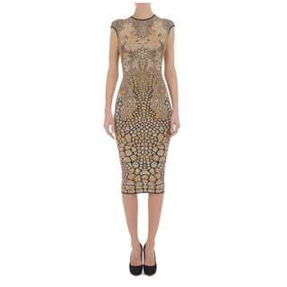 ALEXANDER MCQUEEN, Pencil Dress, Dragonfly Wing Jacquard Pencil Dress