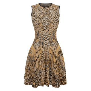 ALEXANDER MCQUEEN, Mini Dress, Dragonfly Wings Puckering Jacquard Circle Mini-Dress