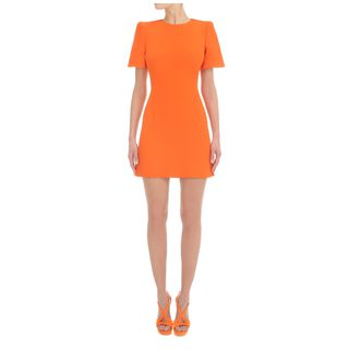 ALEXANDER MCQUEEN, Mini Dress, Cape Shoulder Mini-Dress