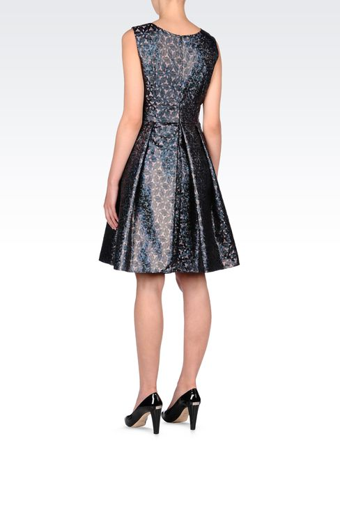 OPTICAL-PRINT LAMÉ DRESS: Short Dresses Women by Armani - 3