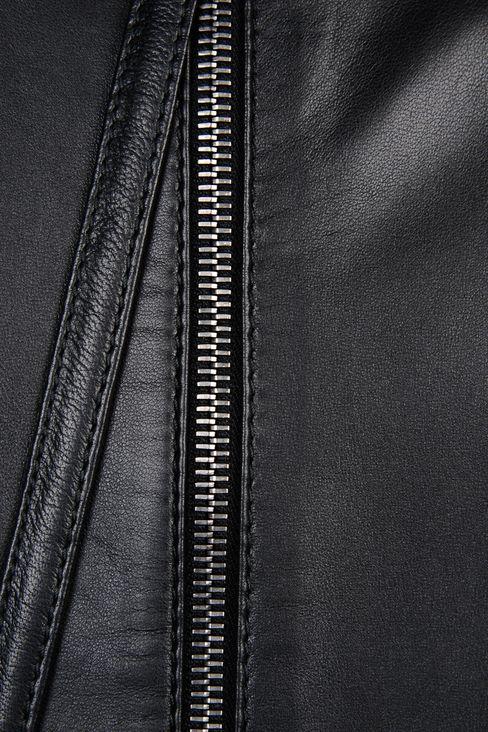 emporio armani donna tubino in pelle full zip posteriore. Black Bedroom Furniture Sets. Home Design Ideas