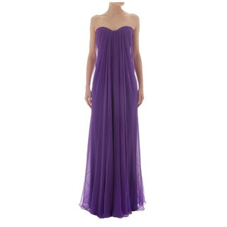 ALEXANDER MCQUEEN, Long Dress, Draped Bustier Gown