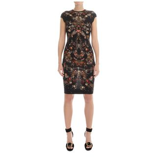 ALEXANDER MCQUEEN, Mini Dress, Floral Print Pencil Dress