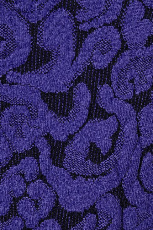 V NECK JACQUARD DRESS: Short Dresses Women by Armani - 4