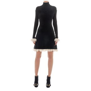 ALEXANDER MCQUEEN, Mini Dress, Silk Ruffle Dress