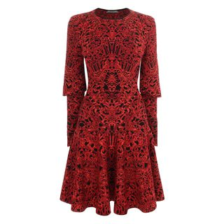 ALEXANDER MCQUEEN, Mini Dress, Glory Jacquard Knit Dress