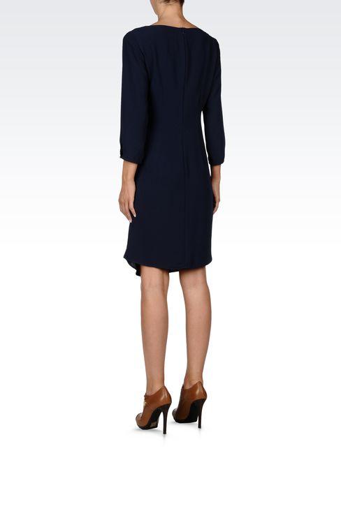 DRAPED CRÊPE SATIN DRESS: Short Dresses Women by Armani - 3