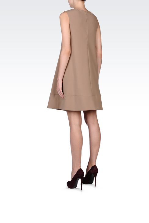 TRAPEZE DRESS WITH V NECK: Short Dresses Women by Armani - 3