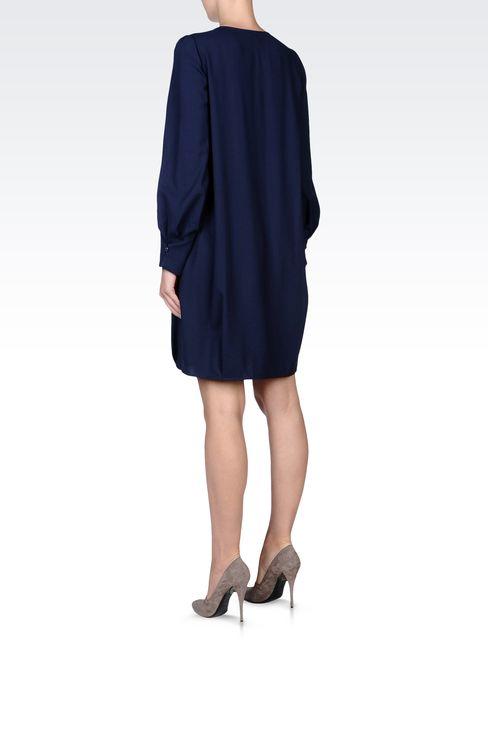 LONG-SLEEVED CRÊPE DRESS: Long-sleeved dresses Women by Armani - 3